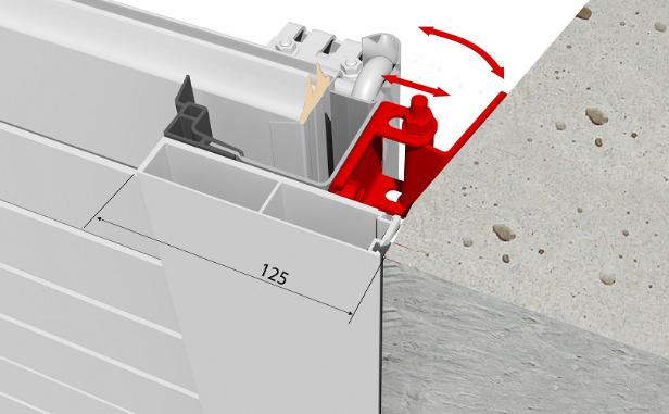 Система встроенного монтажа для ворот RSD01