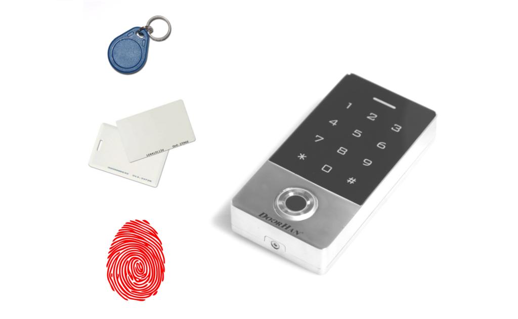 Новая кодовая клавиатура со встроенным считывателем отпечатков пальцев и карт (KEYFREM)