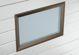 Окно для гаражных ворот без оформления