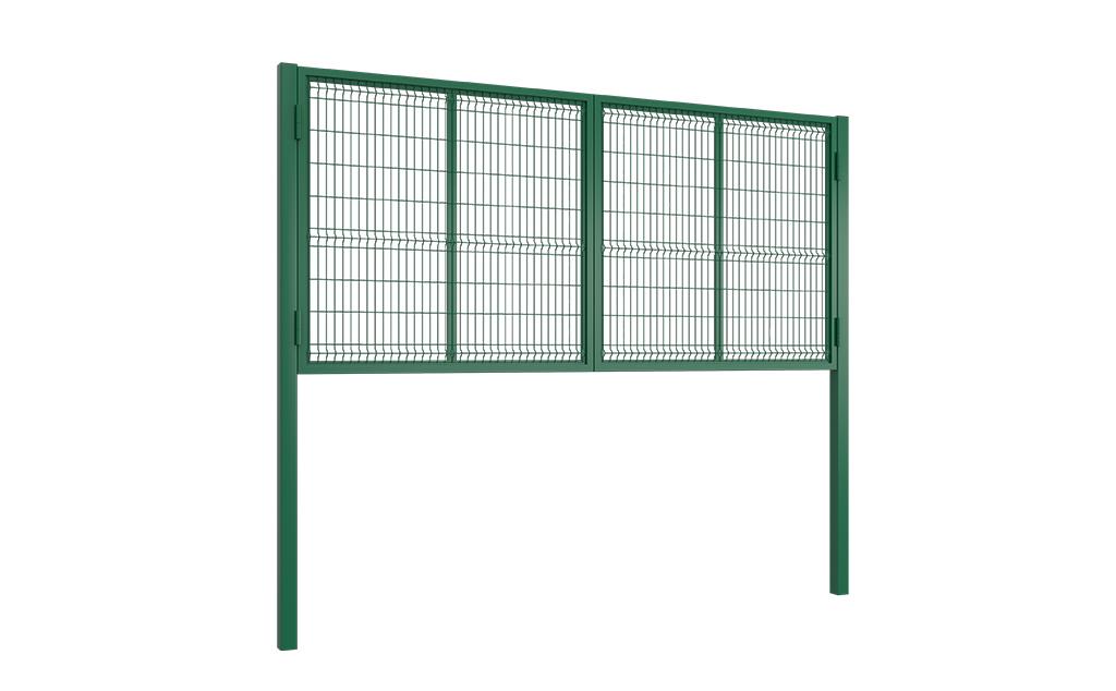 В продаже стандартные комплекты калиток и распашных ворот с заполнением сварной сеткой