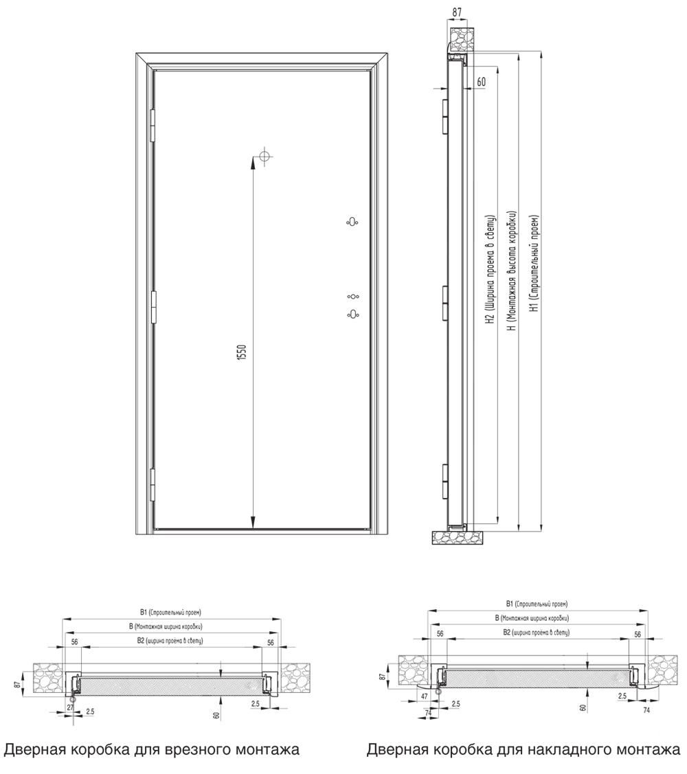 Чертежи дверного блока