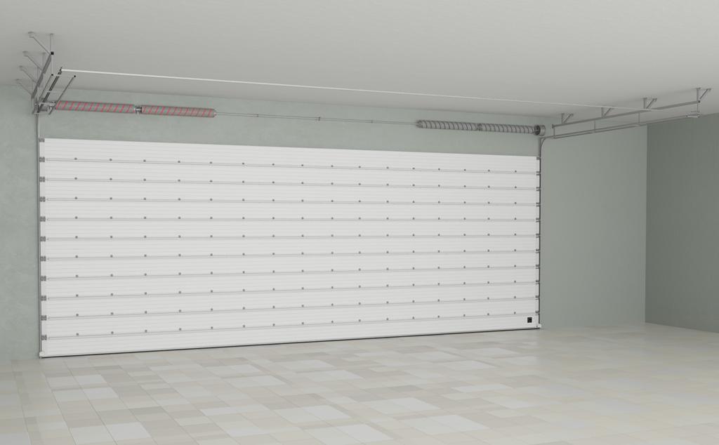 Заказывайте промышленные секционные ворота ISD03 из алюминиевых сэндвич-панелей