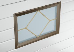 Окно для гаражных ворот с ромбом