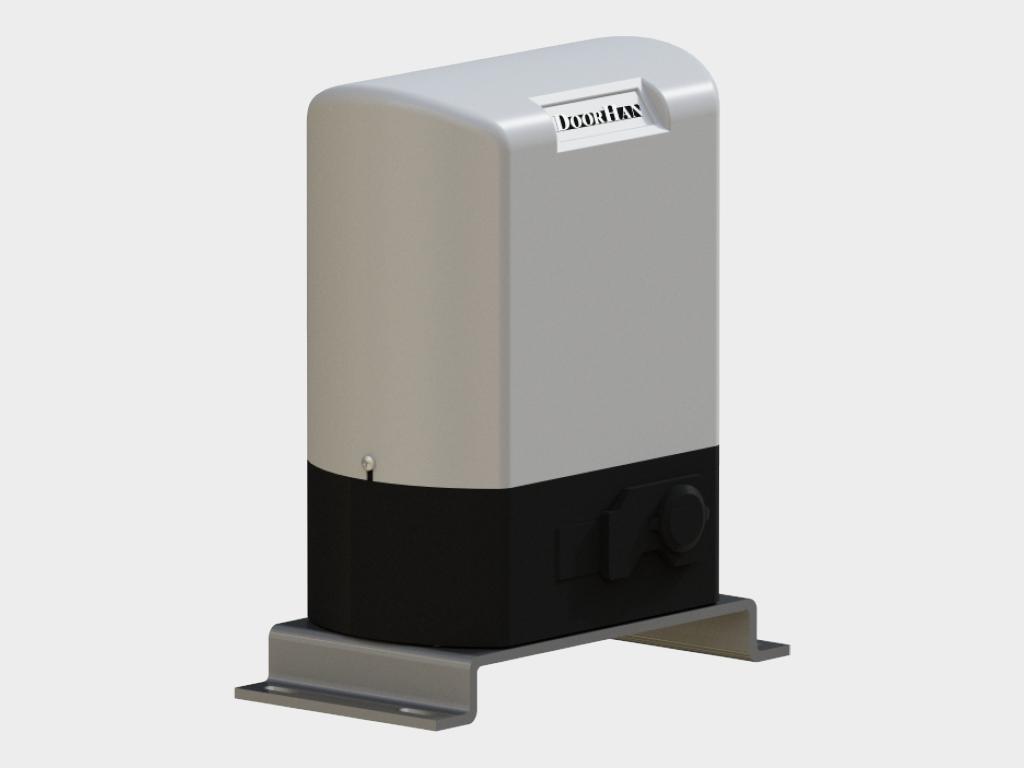 Привод автоматизации стрелы со встроенным блоком управления и концевыми выключателями.