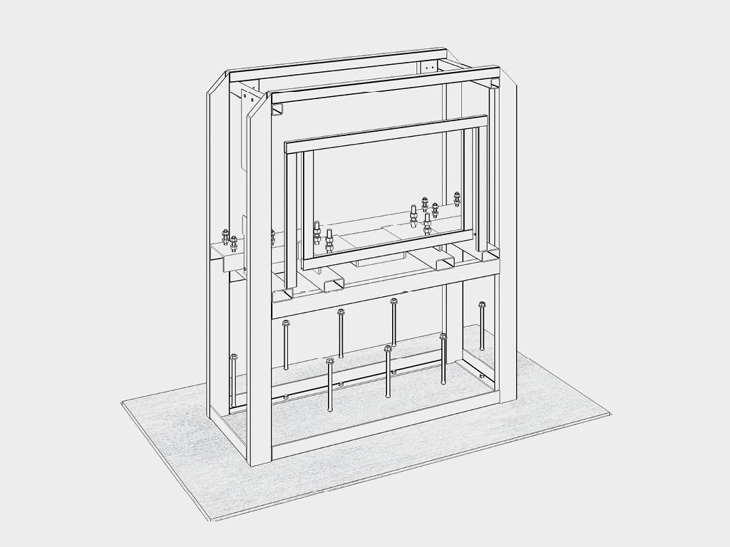 Стойка шлагбаума устанавливается на бетонируемое основание при помощи анкерных болтов. Анкерные болты входят в состав поставки изделия.