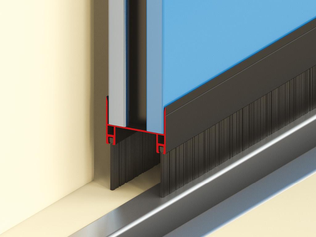 Промышленные складные панорамные ворота DoorHan без нижней направляющей