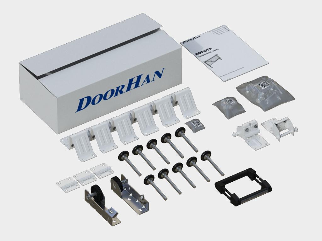 Секционные ворота DoorHan RSD01SC на проем 3350х2115(h) белые