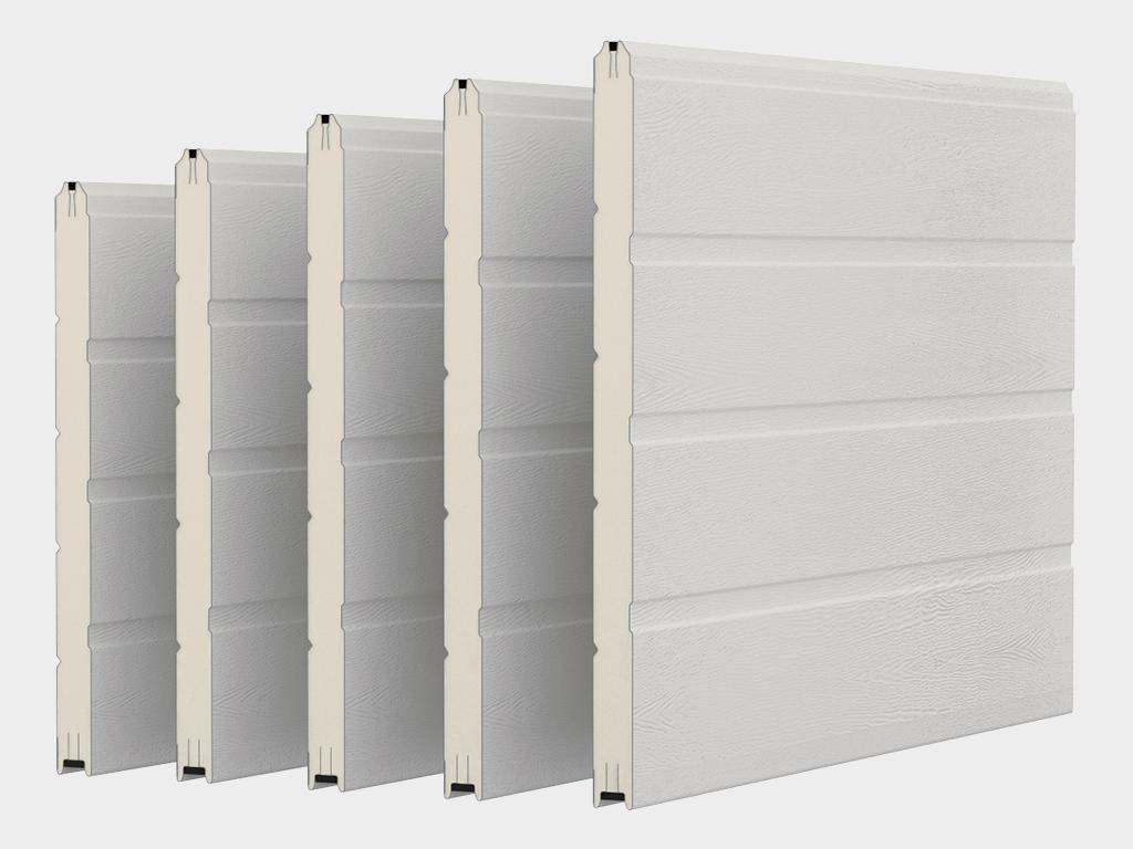 Полотно двери с заполнением из сэндвич-панелей