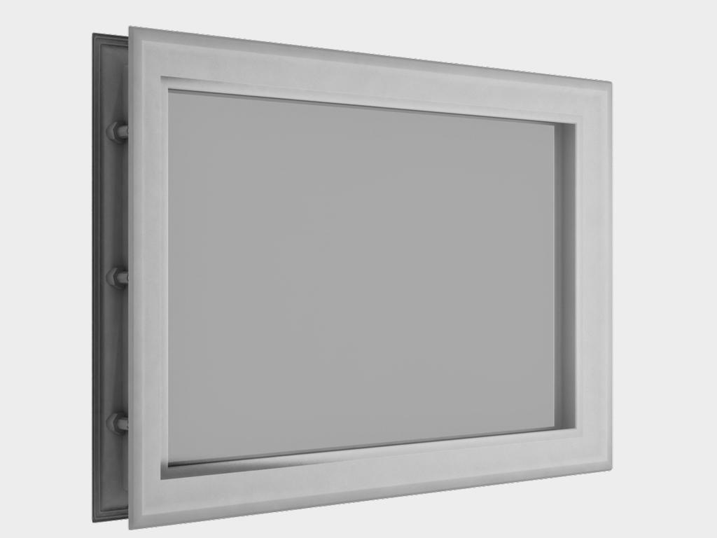 Окно акриловое 452х302, белое