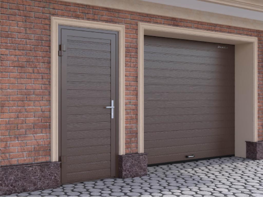 Гаражная дверь устанавливается в гаражи и помещения бытового назначения.
