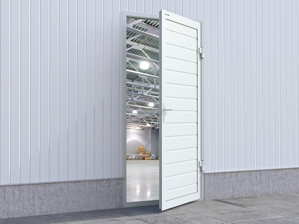 Гаражная дверь устанавливается в помещения промышленного и складского назначения.
