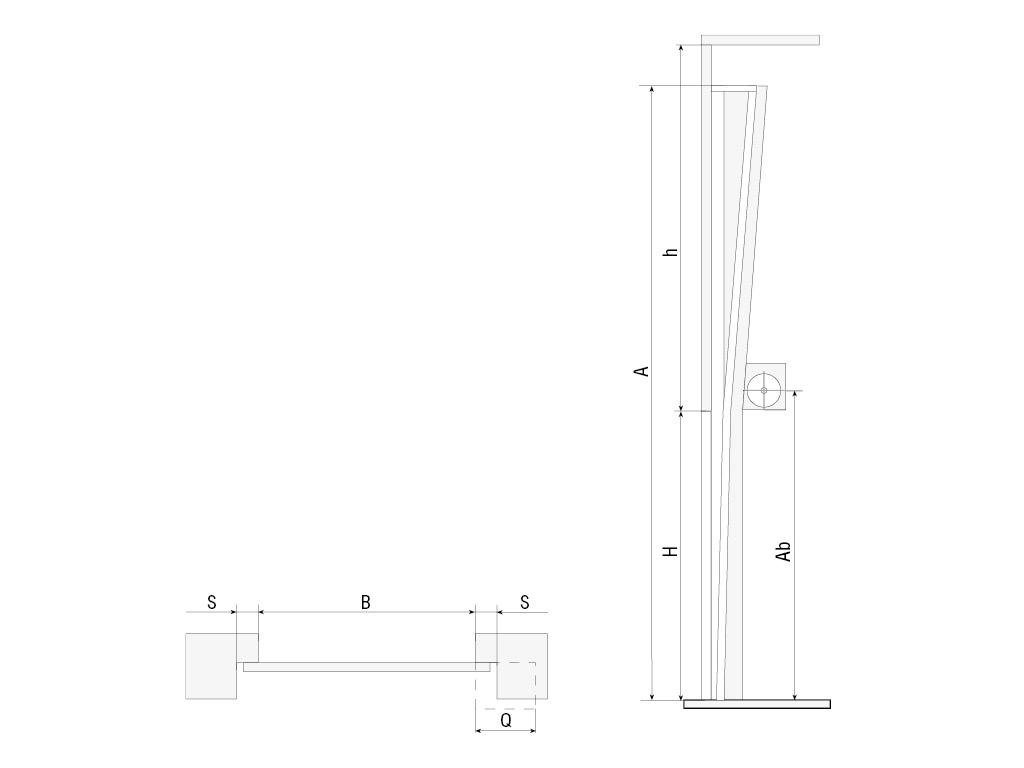 Вертикальный подъем, барабан снизу