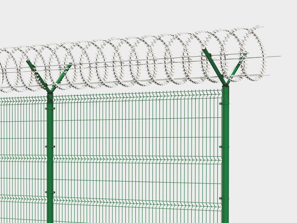 Заборные секции DoorHan из сварной сетки серии УСИЛЕННАЯ