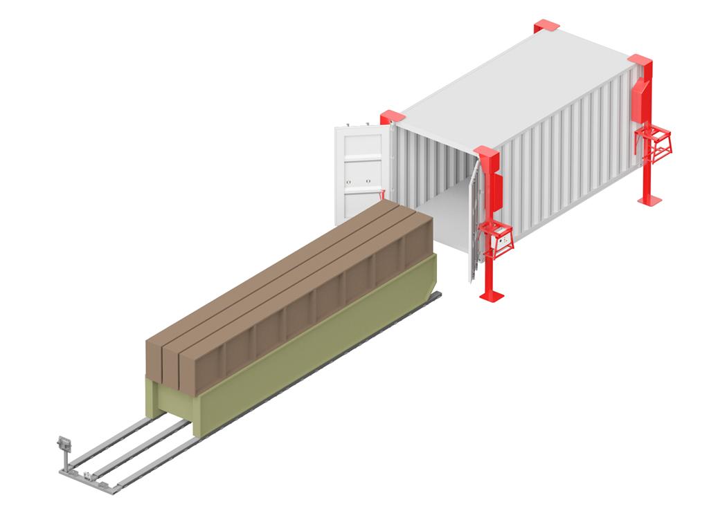 Система погрузки-разгрузки контейнеров